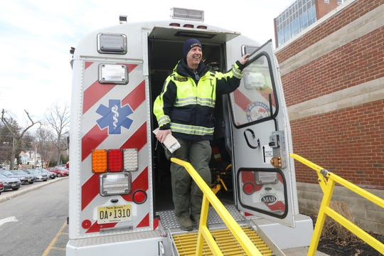 Morris County Director for the Office of Emergency Management, Jeff Paul on the Morris County OEM's Mobile Ambulance Bus. Jan. 25, 2019