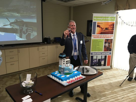 John Black, executive director of Smyrna Airport Authority, celebrates 100,000-plus operations in 2018, a 25 percent increase over 2017.