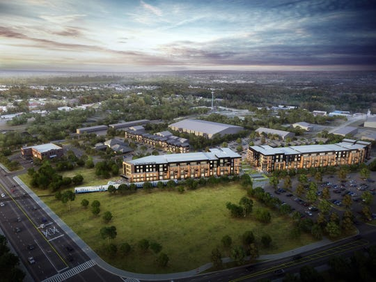 Vintage State North is a mixed-use plan approved to build 192 apartments and 28 townhomes in Mt. Juliet near the train station being billed as a transit oriented development.