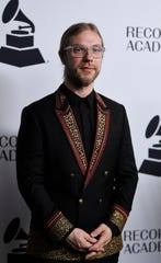 "Ian Fitchuk walks the red carpet at the Recording Academy's annual Grammy nominee party Jan. 24 in Nashville. Fitchuk co-produced Kacey Musgraves' album ""Golden Hour."""