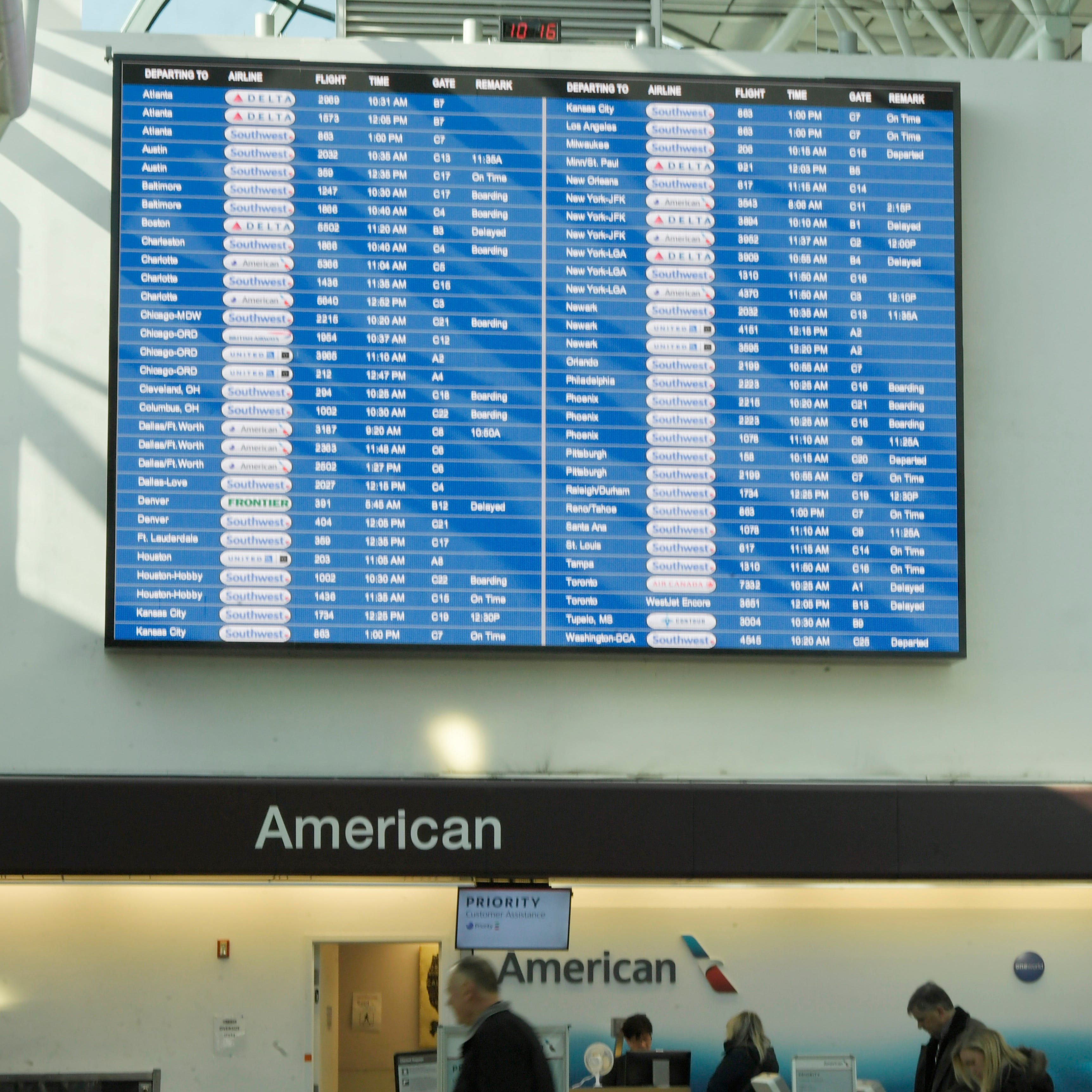 Dozens of flights delayed at Nashville International Airport due to technical issue