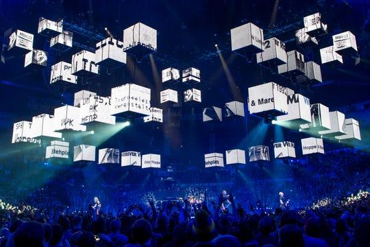 Metallica performs during the WorldWired Tour at Bridgestone Arena in Nashville, Tenn., Thursday, Jan. 24, 2019.