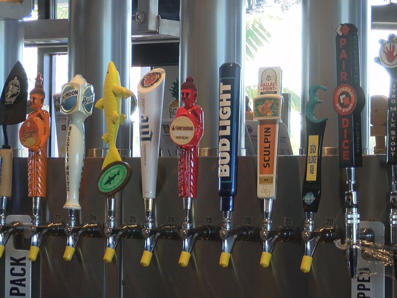 Yard House beer taps