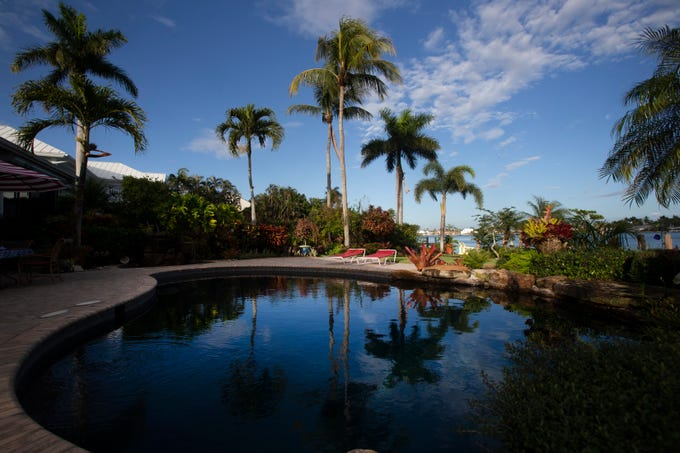 The pool at an Aqualane Shores home which will be featured in the Naples House and Garden Tour is pictured, Thursday, Jan. 25, 2019, in Naples.