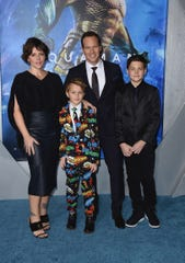 "Dagmara Domińczyk and Patrick Wilson at the ""Aquaman"" premiere."