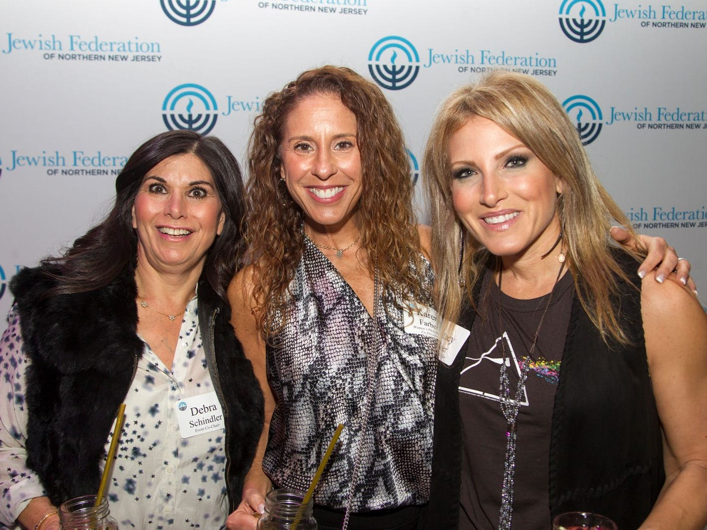Debbie Schindler, Karen Farber, Stacy Esser. Jewish Federation of Northern New Jersey held its first Girl's Night Out dance party at Space in Englewood. 01/24/2019
