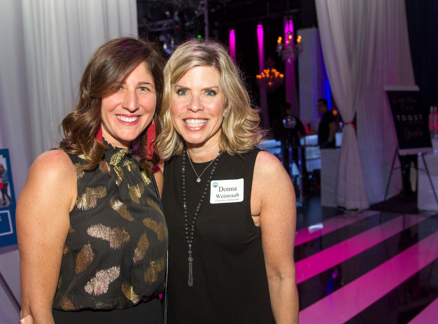 Michal Levinson, Donna Weintraub. Jewish Federation of Northern New Jersey held its first Girl's Night Out dance party at Space in Englewood. 01/24/2019