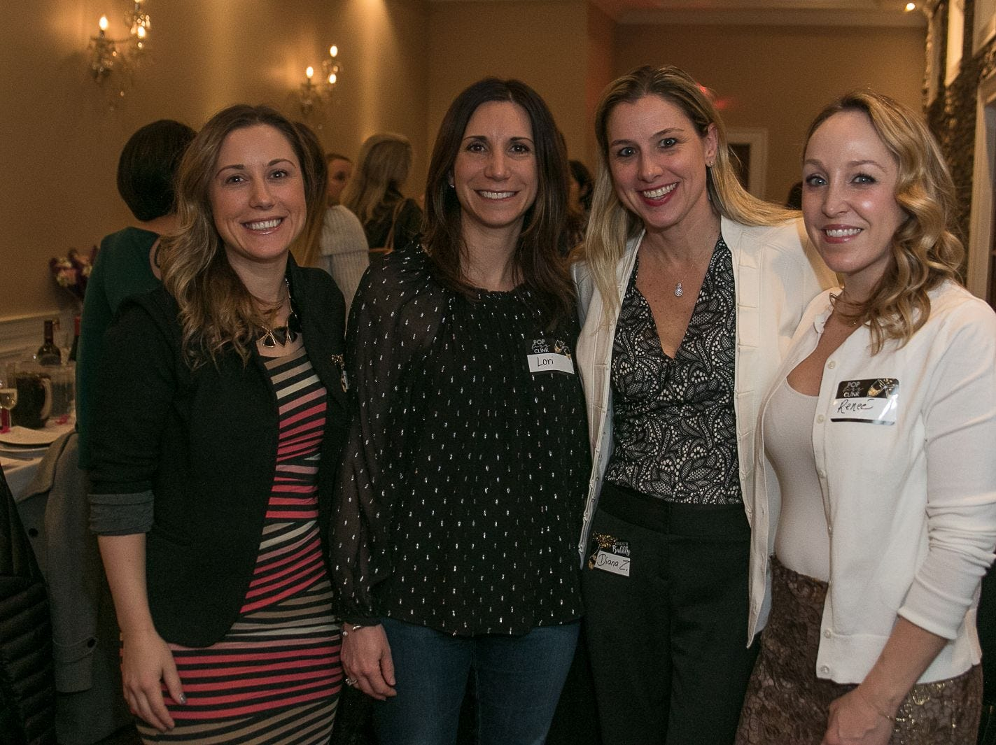 Diana Reinkraut, Lori Kramer, Diana Zuccaro, Renee Buzzelli. The Saddle River Valley Junior Woman's Club held an inductee dinnerfor incoming members at Bellisimo Restaurante in Montvale. 01/23/2019