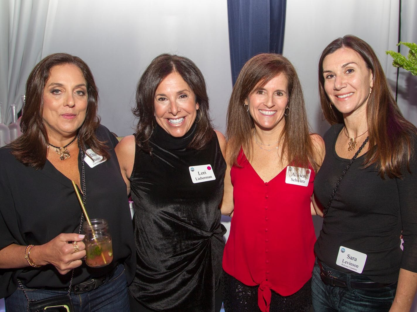 Dina Bassen, Lori Lieberman, Allison Schwartz, Sara Levinson. Jewish Federation of Northern New Jersey held its first Girl's Night Out dance party at Space in Englewood. 01/24/2019