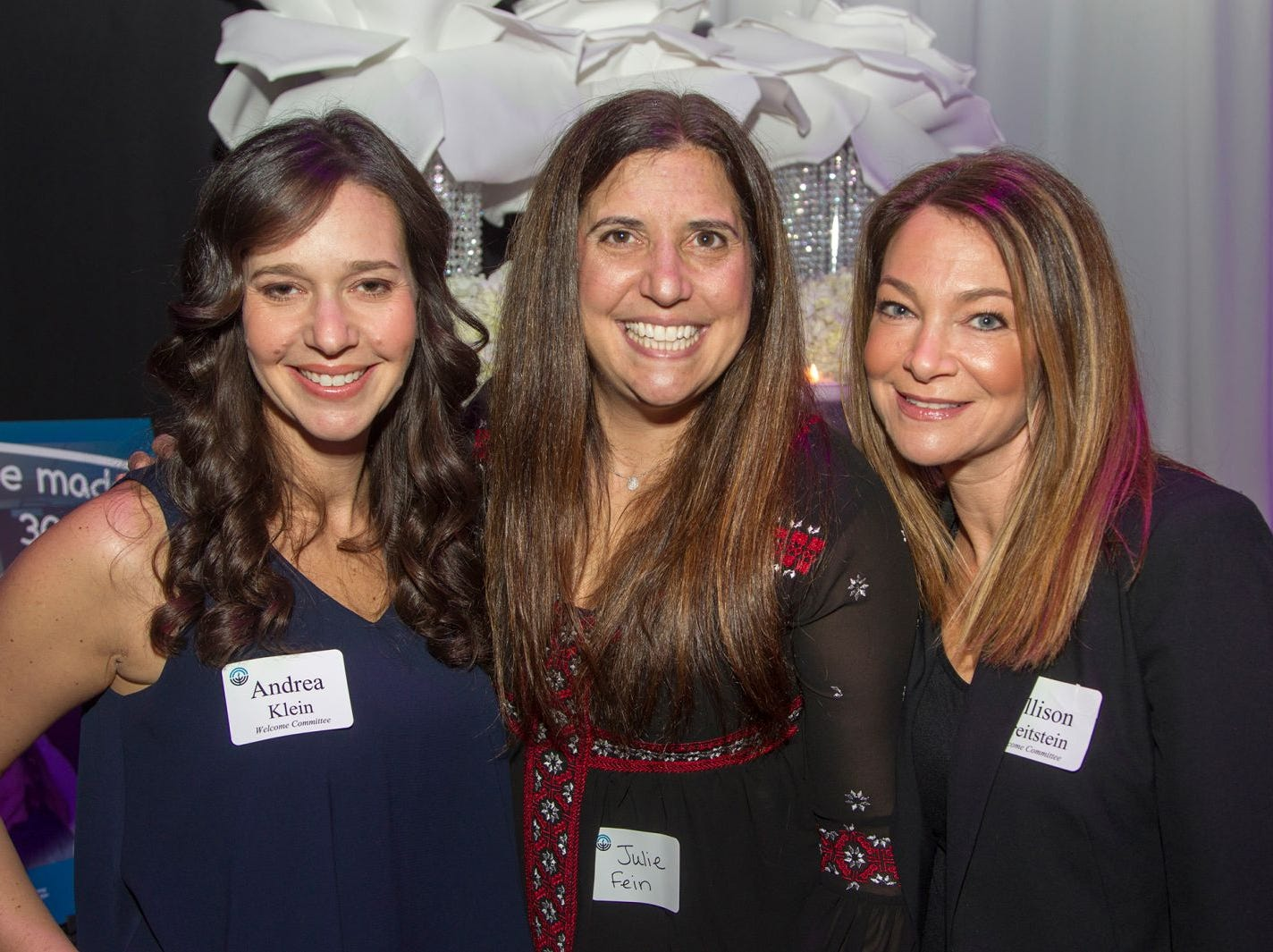 Andrea Klein, Juli Fein, Allison Breitstein. Jewish Federation of Northern New Jersey held its first Girl's Night Out dance party at Space in Englewood. 01/24/2019