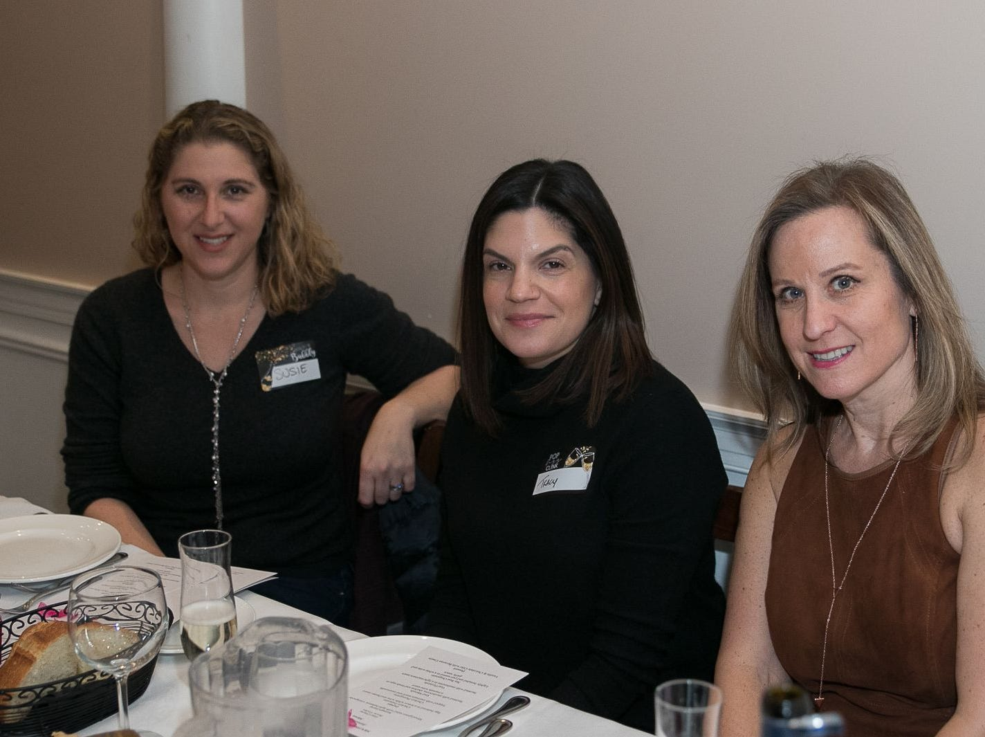 Susie Fein, Tracy Penski, Laura Taras. The Saddle River Valley Junior Woman's Club held an inductee dinnerfor incoming members at Bellisimo Restaurante in Montvale. 01/23/2019