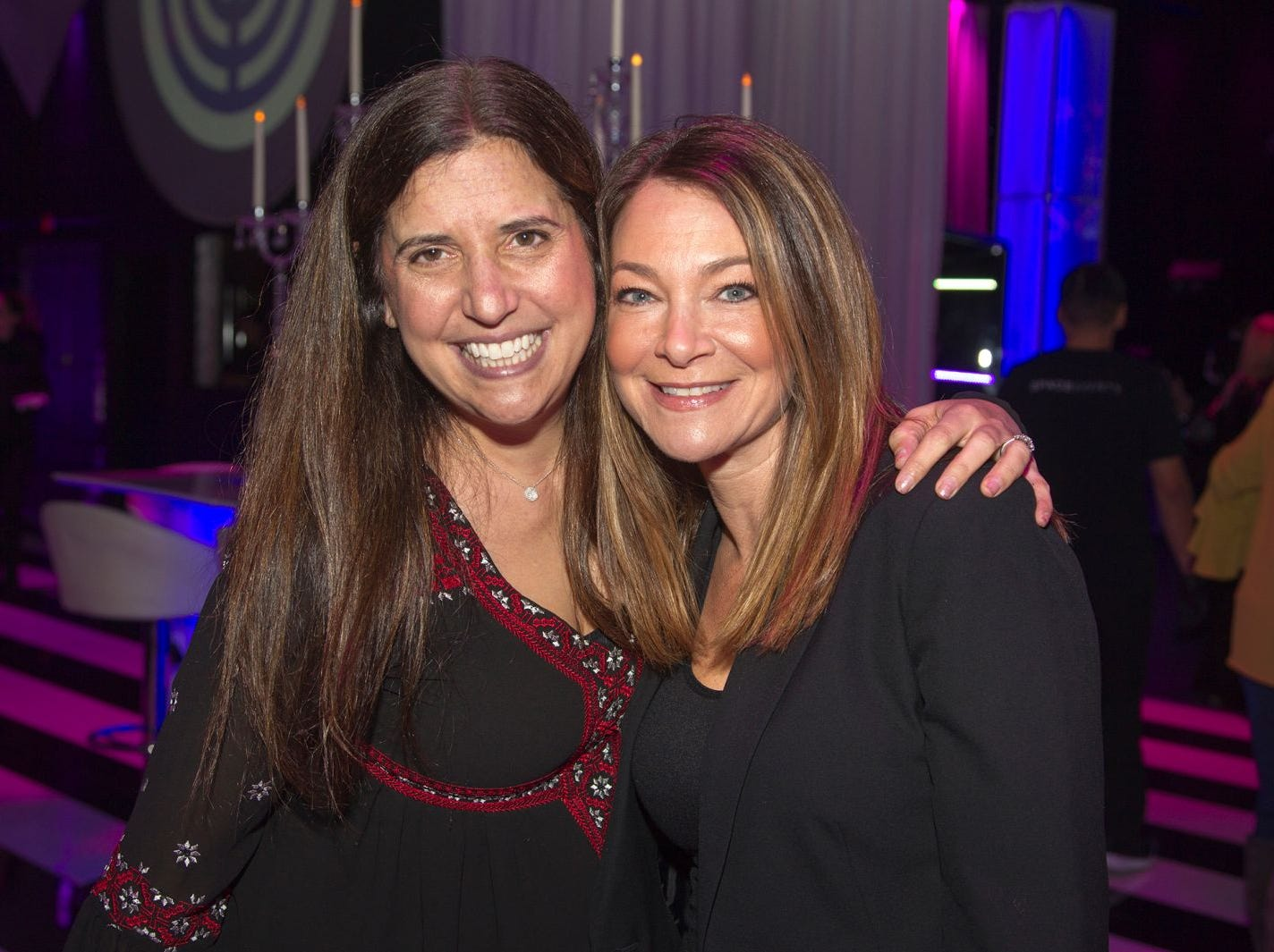 Julie Fein, Allison Breitstein. Jewish Federation of Northern New Jersey held its first Girl's Night Out dance party at Space in Englewood. 01/24/2019