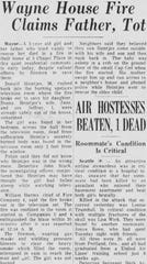 Newspaper clip from the June 24, 1966, edition of The Record, with a story about a fatal fire that Kooreman said was among the most memorable of his firefighting career.