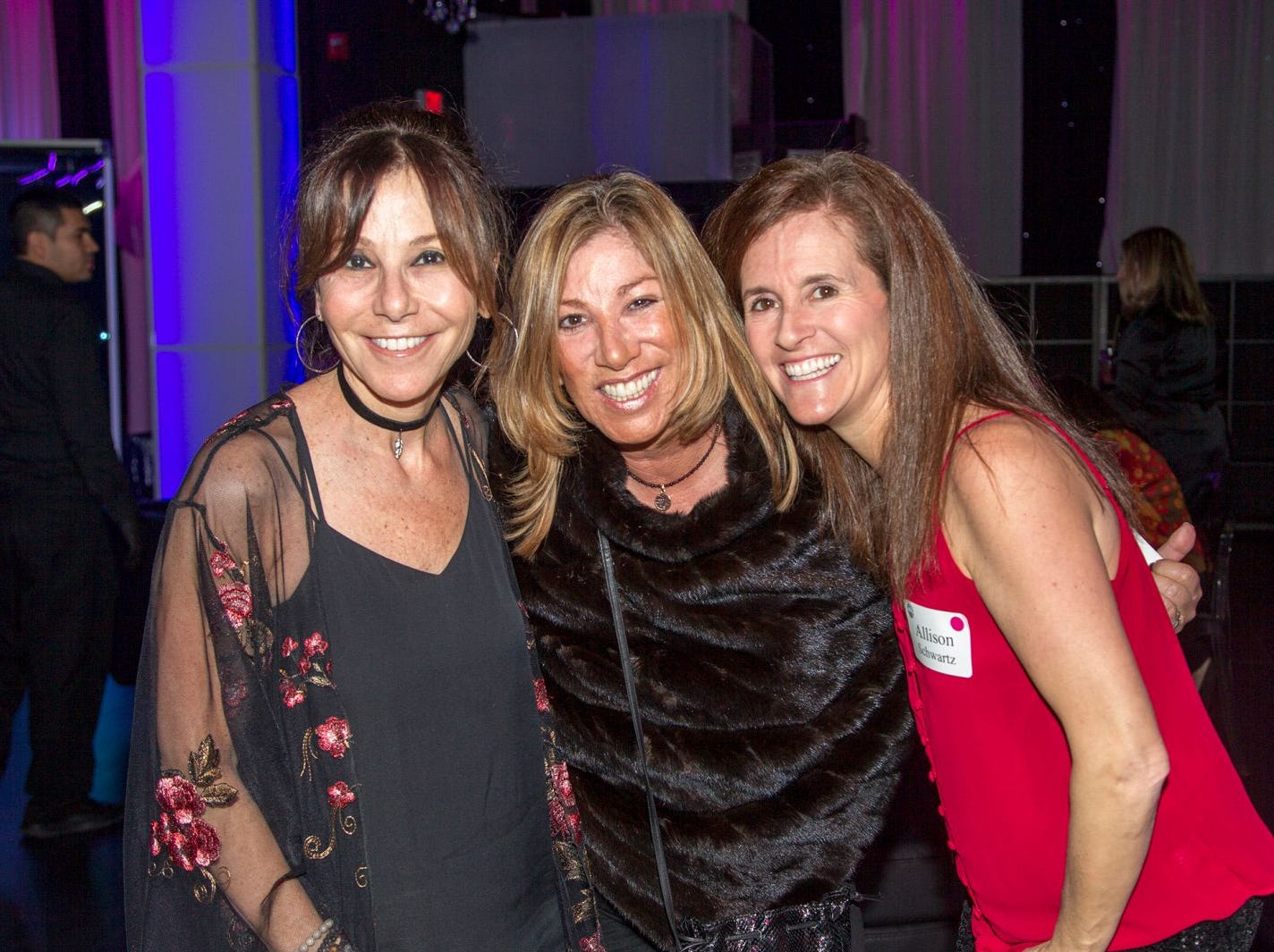 Stacey Beck, Shelley Infeld, Allison Schwartz. Jewish Federation of Northern New Jersey held its first Girl's Night Out dance party at Space in Englewood. 01/24/2019