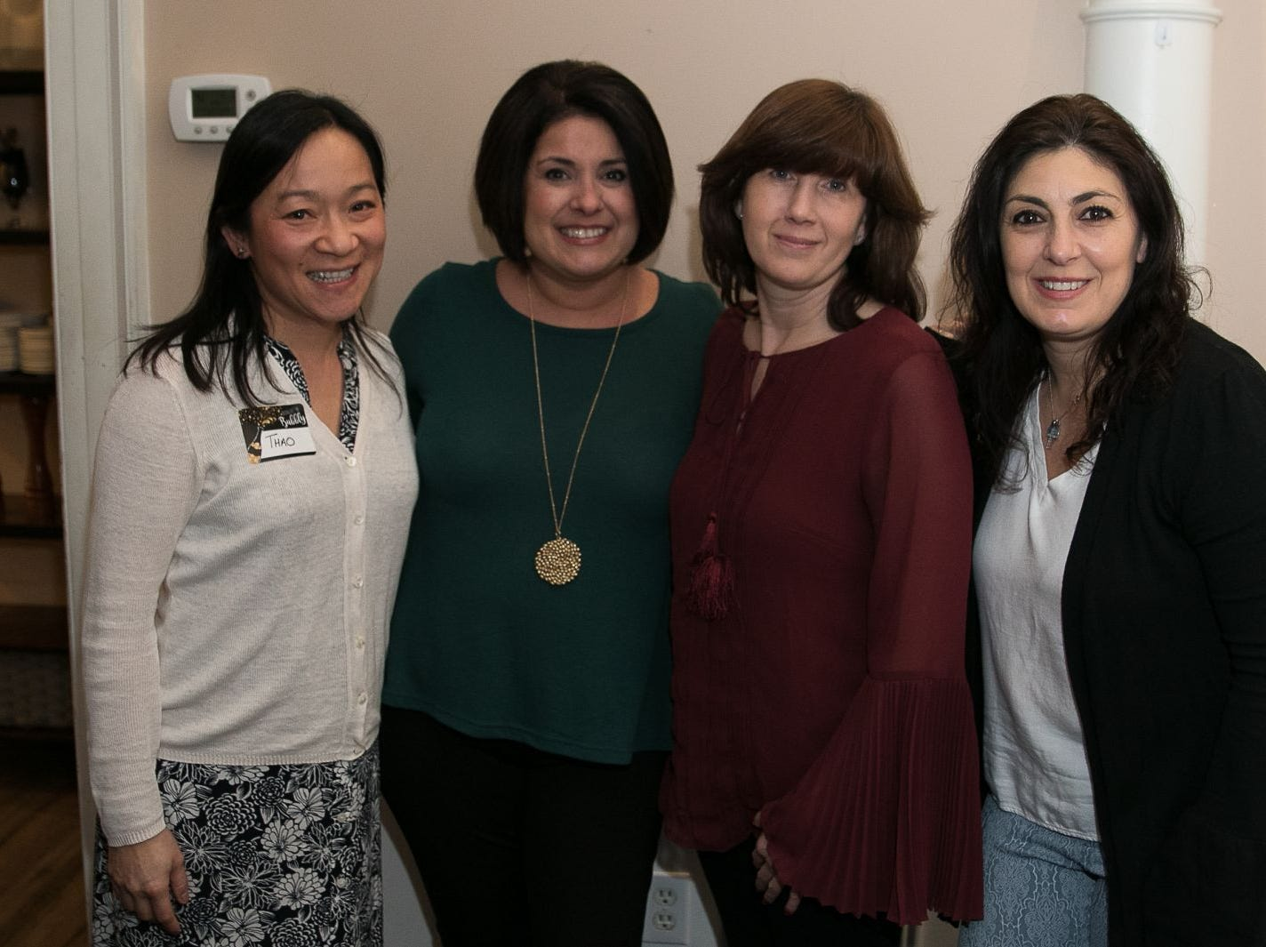 Thao Groenwald. Gina Salerno, Kelli Moss, Josephine Papalia. The Saddle River Valley Junior Woman's Club held an inductee dinnerfor incoming members at Bellisimo Restaurante in Montvale. 01/23/2019