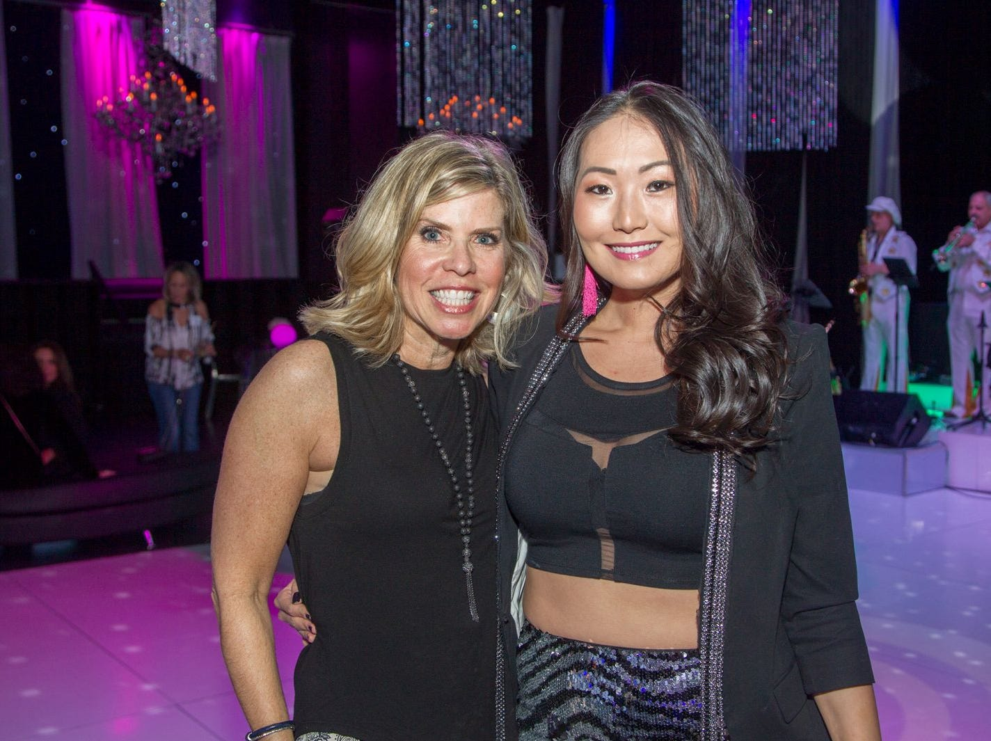 Donna Weintraub, Mina Barany. Jewish Federation of Northern New Jersey held its first Girl's Night Out dance party at Space in Englewood. 01/24/2019
