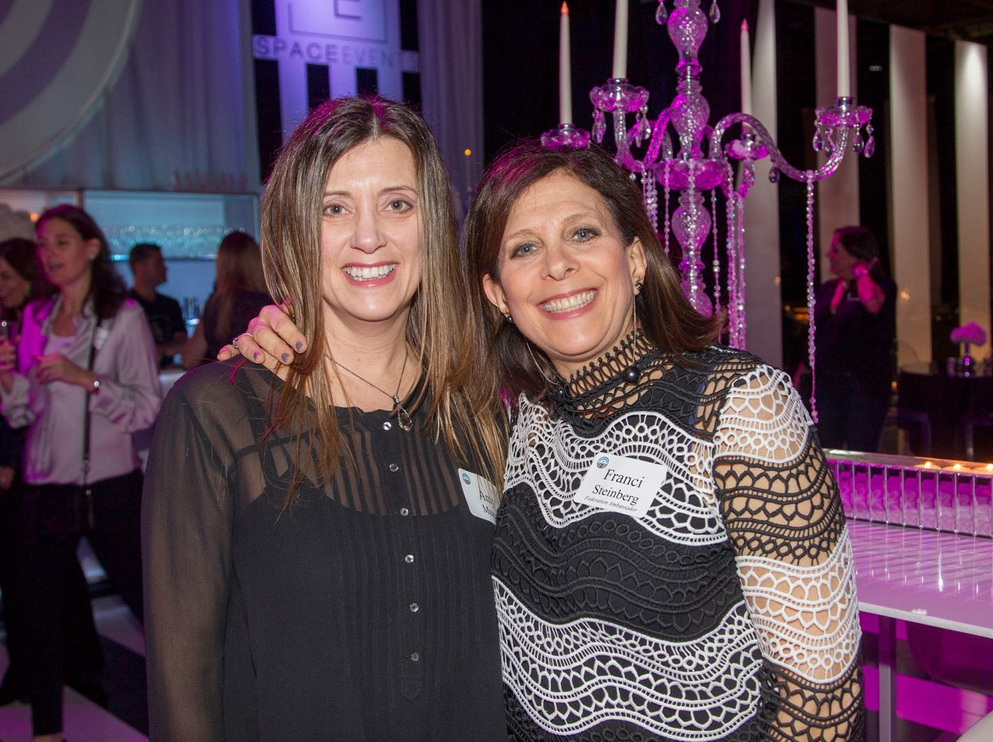 Amy Maza, Franci Steinberg. Jewish Federation of Northern New Jersey held its first Girl's Night Out dance party at Space in Englewood. 01/24/2019