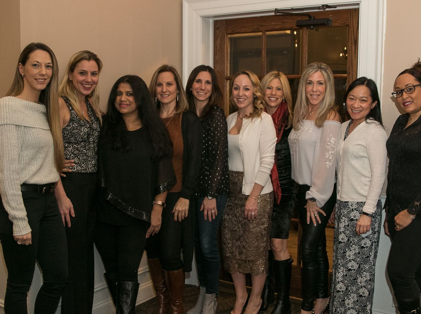 The Inductees. The Saddle River Valley Junior Woman's Club held an inductee dinnerfor incoming members at Bellisimo Restaurante in Montvale. 01/23/2019