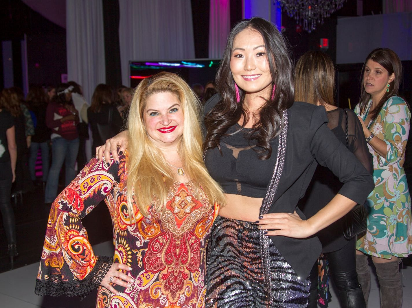 Beverkey Levinson, Mina Barany. Jewish Federation of Northern New Jersey held its first Girl's Night Out dance party at Space in Englewood. 01/24/2019