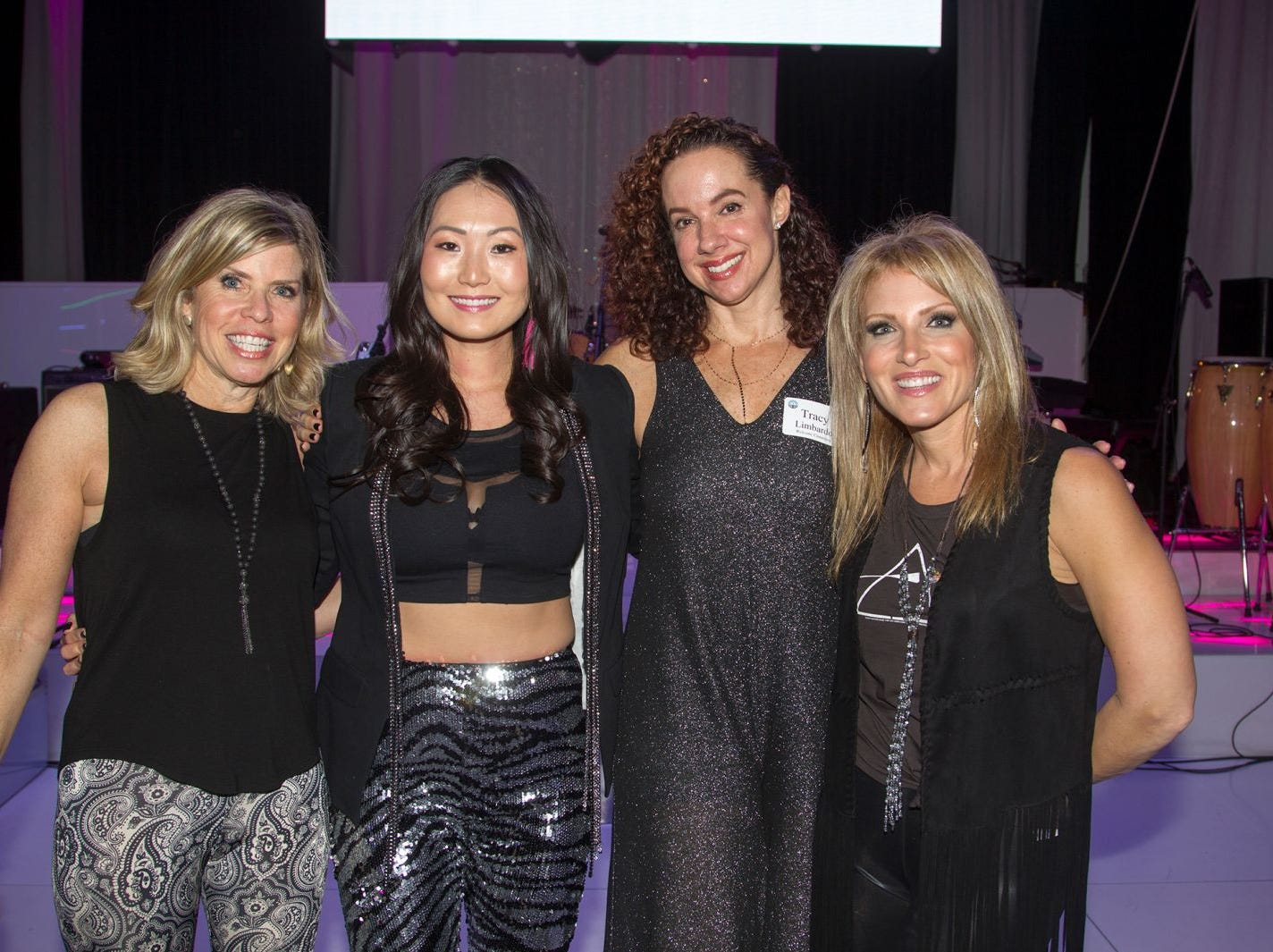 Donna Weintraub, Mina Barany, Tracy Limbardo, Stacy Esser. Jewish Federation of Northern New Jersey held its first Girl's Night Out dance party at Space in Englewood. 01/24/2019
