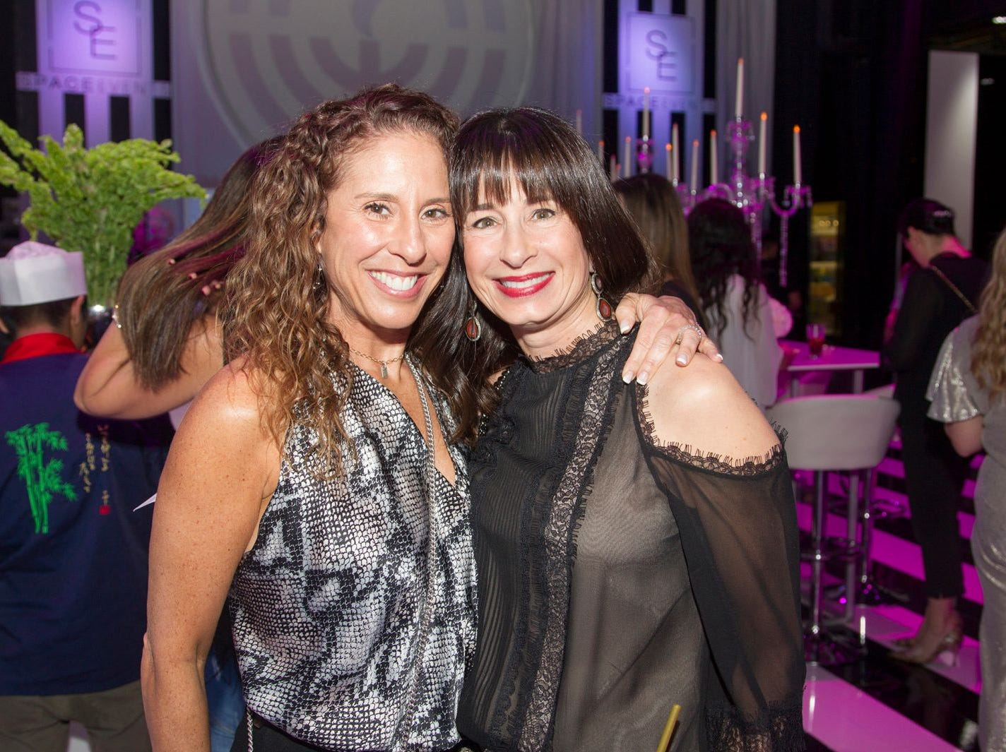 Karen Farber, Suzette Diamond. Jewish Federation of Northern New Jersey held its first Girl's Night Out dance party at Space in Englewood. 01/24/2019