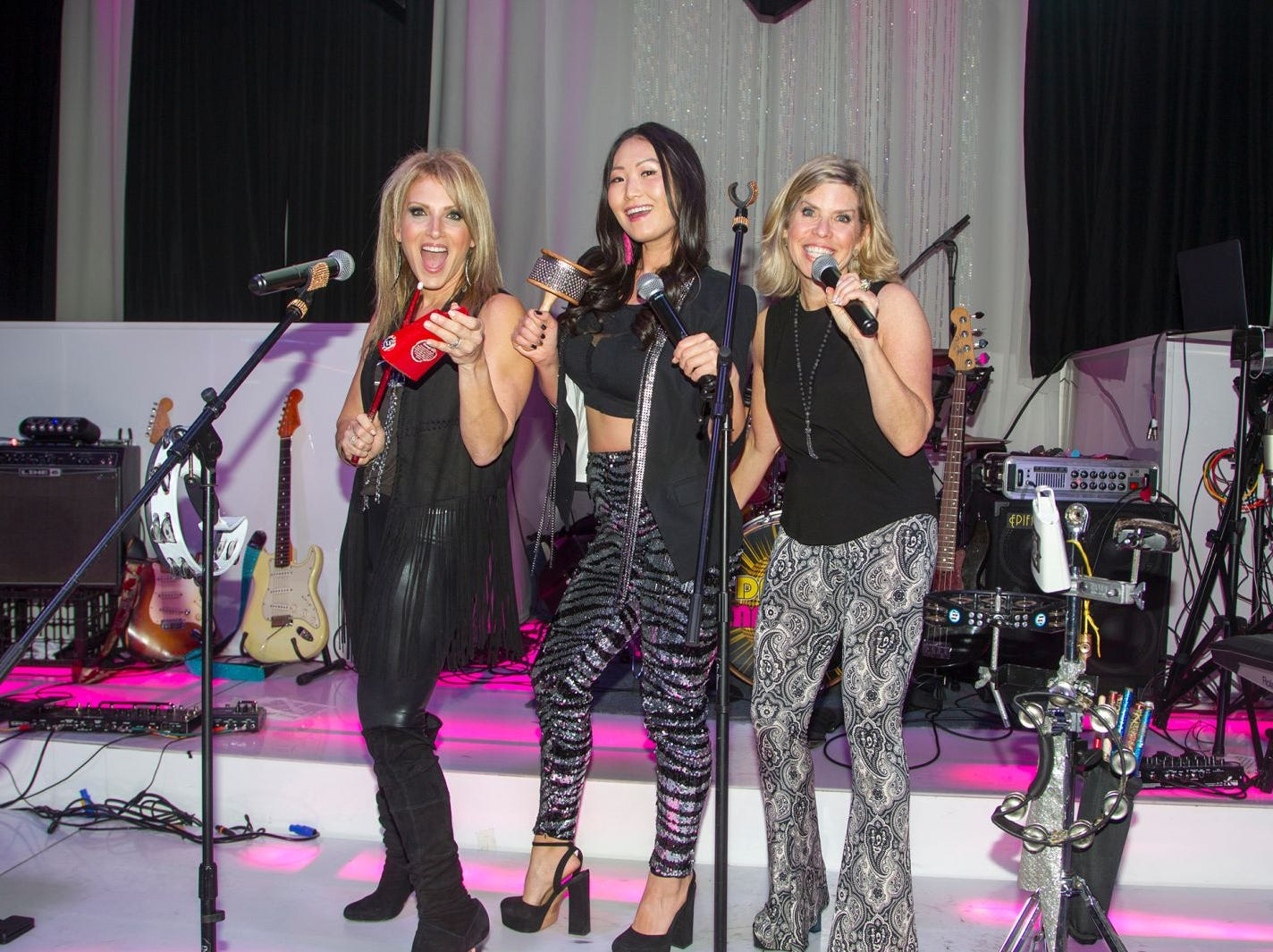 Stacy Esser, Mina Barany, Donna Weintraub. Jewish Federation of Northern New Jersey held its first Girl's Night Out dance party at Space in Englewood. 01/24/2019