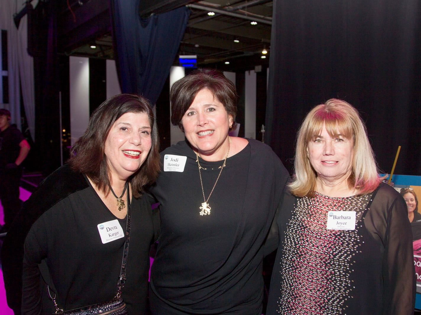 Devra Karger, Jodi Heimler, Barbara Joyce. Jewish Federation of Northern New Jersey held its first Girl's Night Out dance party at Space in Englewood. 01/24/2019