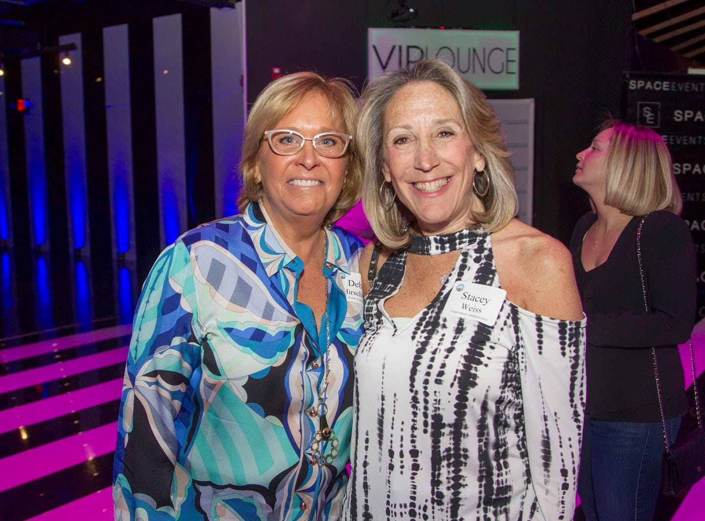 Debra Hirschberg, Stacy Weiss. Jewish Federation of Northern New Jersey held its first Girl's Night Out dance party at Space in Englewood. 01/24/2019