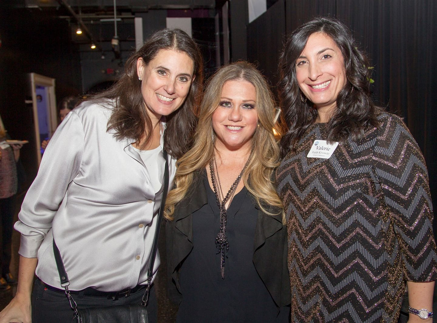 Samantha Gabriel, Keri Friedman, Valerie Kivowitz. Jewish Federation of Northern New Jersey held its first Girl's Night Out dance party at Space in Englewood. 01/24/2019