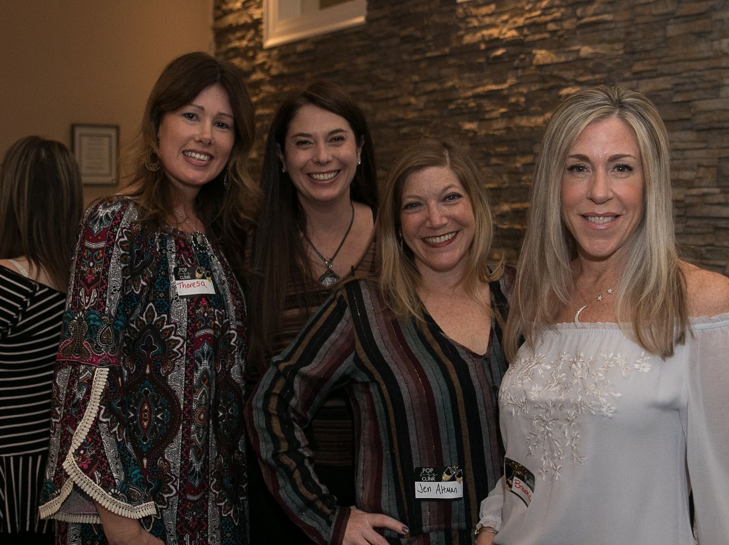 Theresa Lalime, Judy Silver, Jen Altman, Brooke Young. The Saddle River Valley Junior Woman's Club held an inductee dinnerfor incoming members at Bellisimo Restaurante in Montvale. 01/23/2019