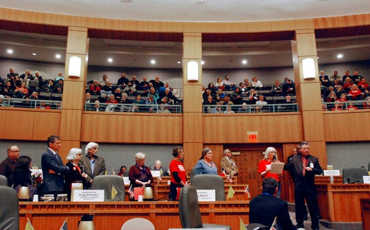The New Mexico Legislature meets at the Roundhouse in Santa Fe in this photo from Jan. 24, 2019.