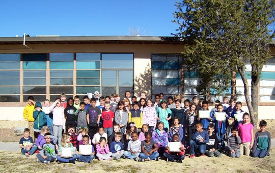 Members of the January Holloman Elementary School BUG Honor Roll.