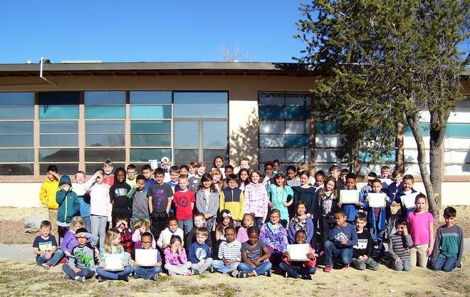 Members of the January Holloman Elementary School BUG Honor Roll.