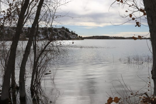 A Farmington official says relatively wet winter has allowed for an improvement in drought conditions in the area, as evidenced by the water level at Farmington Lake.