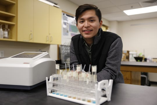 Navajo Preparatory School junior Sky Harper won the high school student category for the 2019 Excellence in STEM Awards.