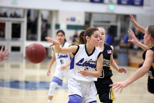Cathedral City's Dominique Urbina passes the ball against Yucca Valley in Cathedral City on Thursday, January 24, 2019.