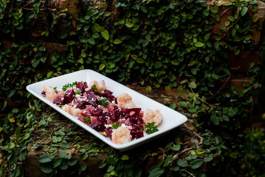 Roasted Beet Salad, Skopelos at New World.