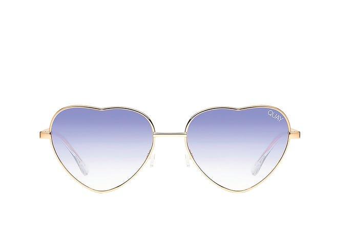 "Quay Australia ""Kim"" heart sunglasses, $60, Dillard's."