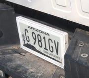 Arizona approves use of digital license plates.