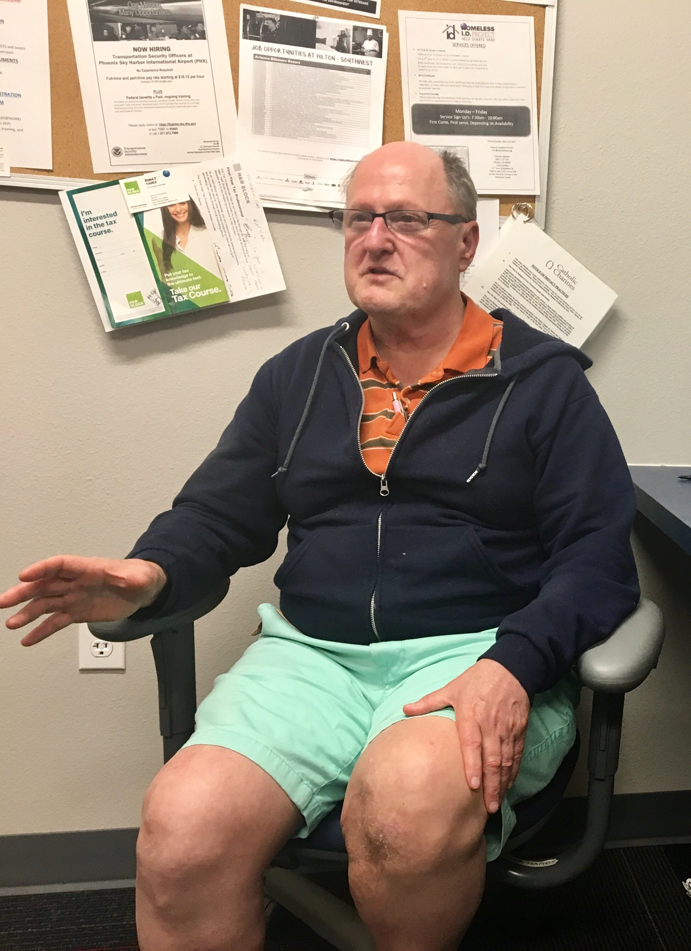 Rex Neighbors, 62, a Navy veteran, talks about the help he got at Catholic Charities' MANA House, a transitional living program for homeless veterans.