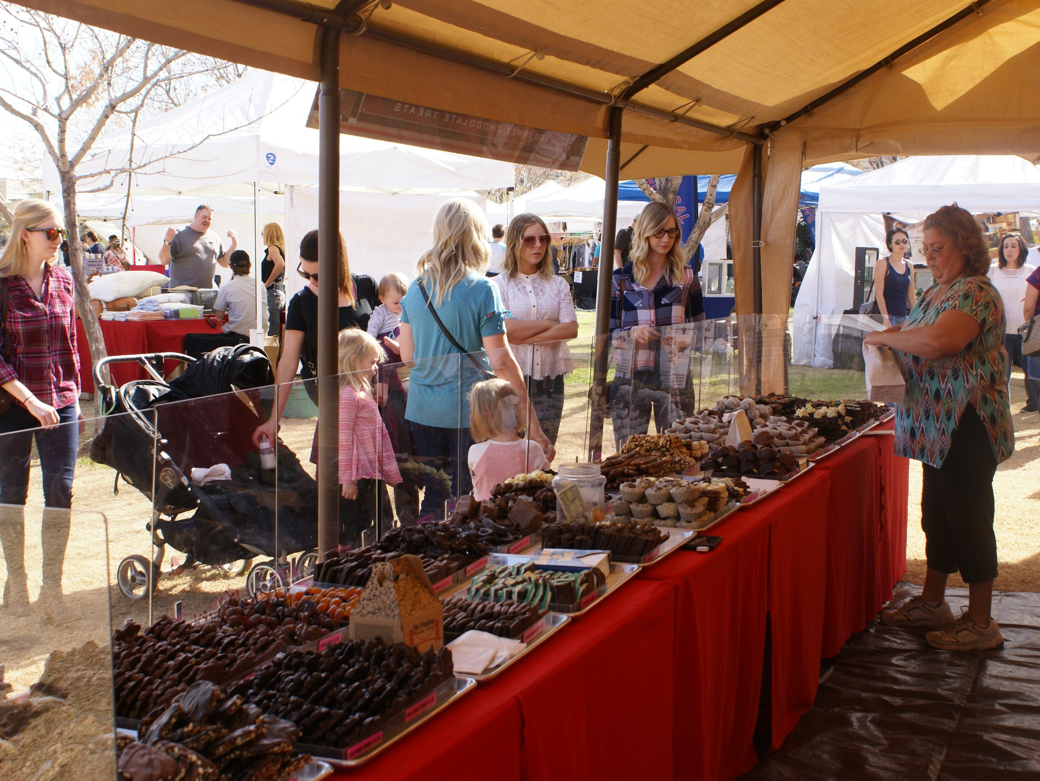 During the Art of Chocolate A'Fair, vendors will have different chocolate confections.