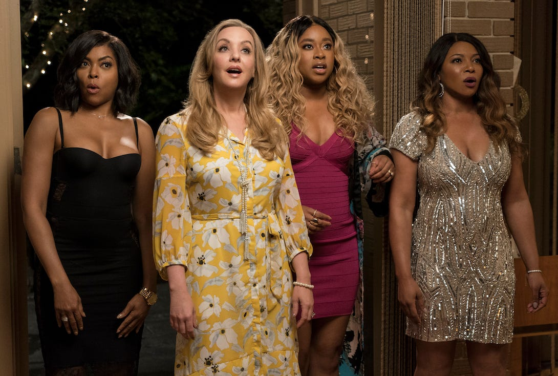 "Taraji P. Henson, Wendi McLendon-Covey, Phoebe Robinson and Tamala Jones in ""What Men Want."""