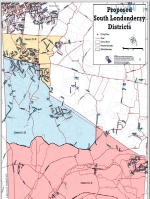 Proposed new voting districts in South Londonderry Township.