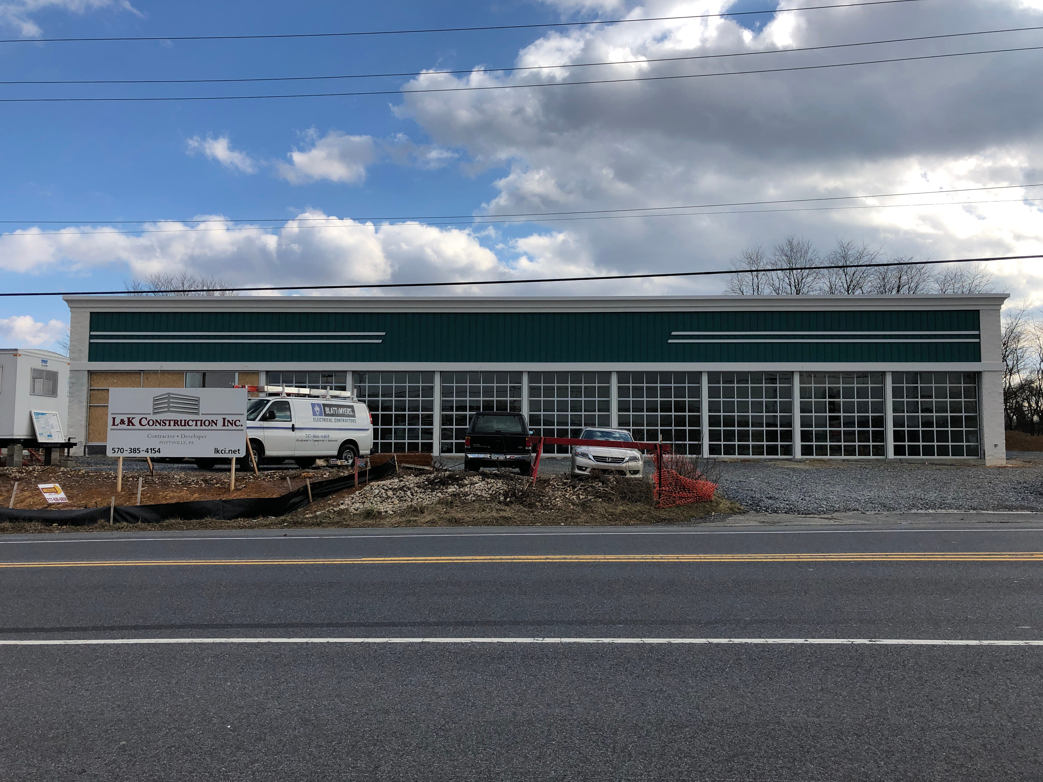 Not one but two Mavis Discount Tire stores are set for Lebanon County in 2019. Pictured is the Quentin Road location, which replaces the abandoned Cheyney Seafood building. Construction on Mavis is also underway in Palmyra. No word yet on when the automotive chain will open either facility.