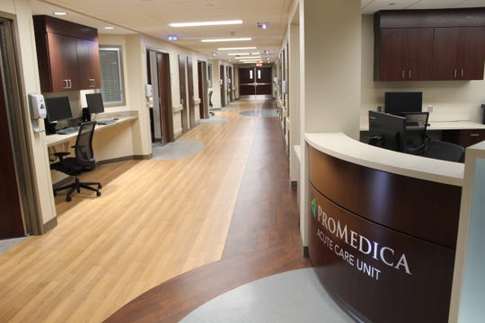 On the second floor of Memorial Hospital, a wide open space has become an 18-room Acute Care Unit.