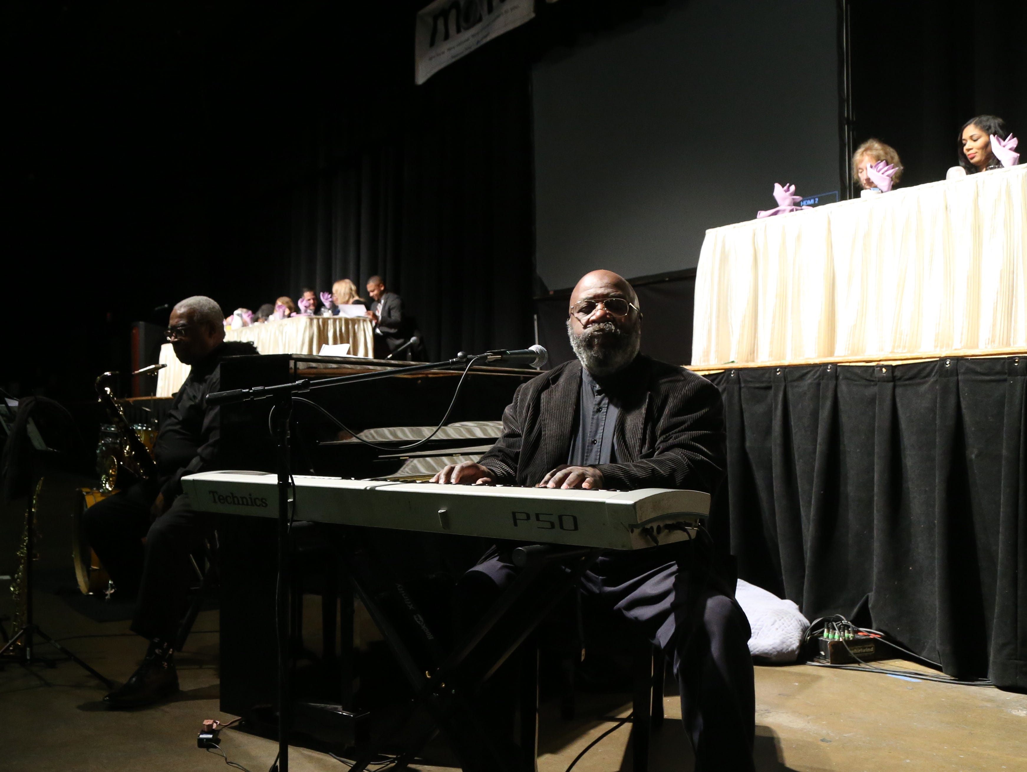 Rayford Watkins & Spirit of Unity Musicians provide music for the Martin Luther King Jr. Breakfast in the City of Poughkeepsie on January 25, 2019.
