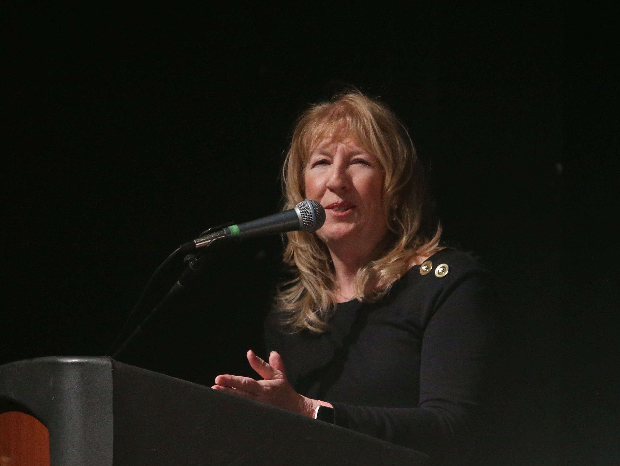 IBM's Sheila Appel speaks during the Martin Luther King Jr. Breakfast in the City of Poughkeepsie on January 25, 2019.