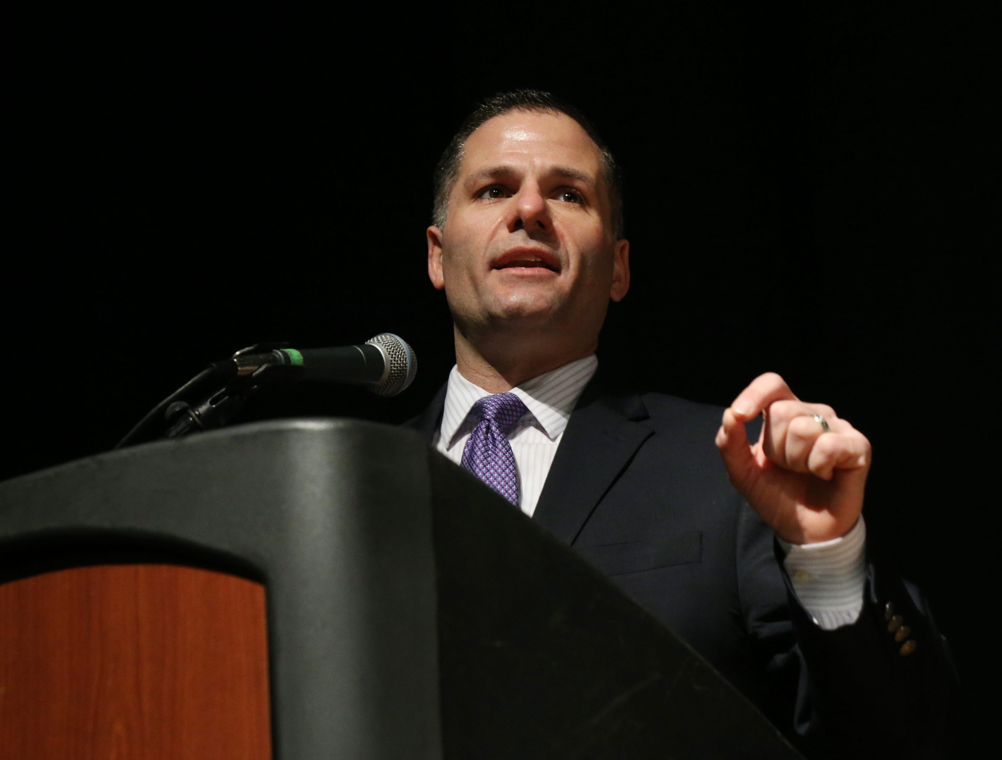 Dutchess County Executive Marc Molinaro speaks during the Martin Luther King Jr. Breakfast in the City of Poughkeepsie on January 25, 2019.