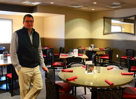 John Flannery, pictured at his restaurant, John Allison Public House on South Antrim Way in Greencastle. He is running to serve as Franklin County commissioner.