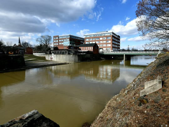 An area adjacent to the Codorus Creek between Philadelphia and Market streets is proposed for improvements according to the York County Economic Alliance Friday, Jan. 25, 2019. A public informational session will be held Tuesday, Jan, 29, at Burchart Horn, 445 W. Philadelphia Street, from 4-6 p.m. Bill Kalina photo